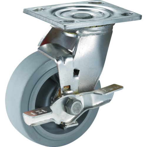 SAMSUNGCASTER ステンレスキャスター 自在SP付 エラストマー 150mm 24個 TP6760-01-MIR-TLB