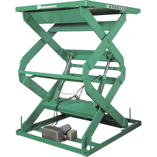 【直送】【代引不可】ビシャモン テーブルリフト 1TON 均等荷重1000kg 揚程1800mm 2X11214B