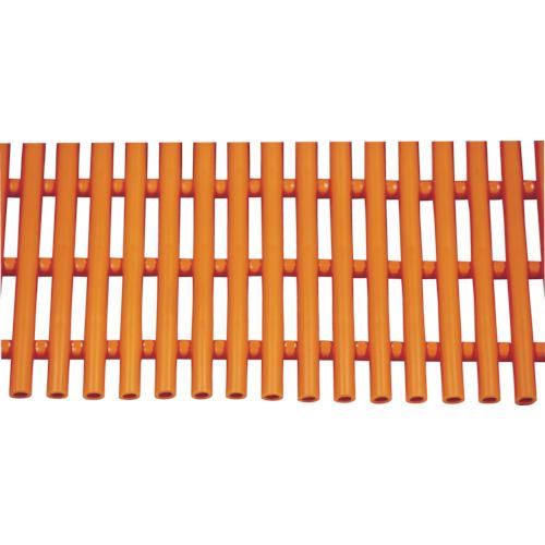 【直送】【代引不可】ミヅシマ工業 セーフティマット ソフト オレンジ 4390202