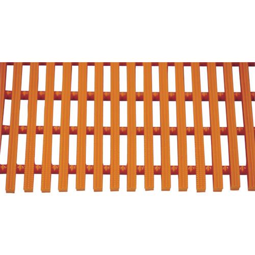 【直送】【代引不可】ミヅシマ工業 セーフティマット ハード オレンジ 4390212