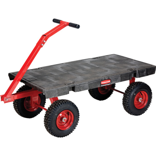 ラバーメイド ホイールワゴントラック 1427X615X445mm ブラック 447707