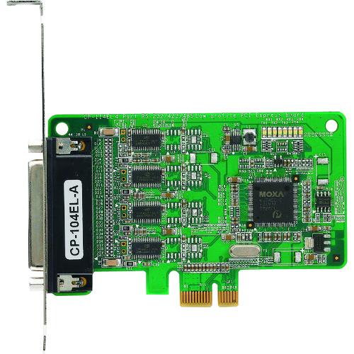 MOXA Express シリアルボード CP-104EL-A/DB9M