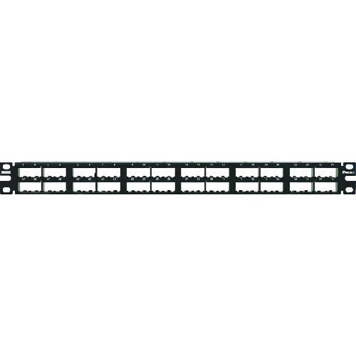 パンドウイット 高密度モジュラーパッチパネル枠 ラベル幅大(6.4mm) 48ポート CPP48HDEWBL