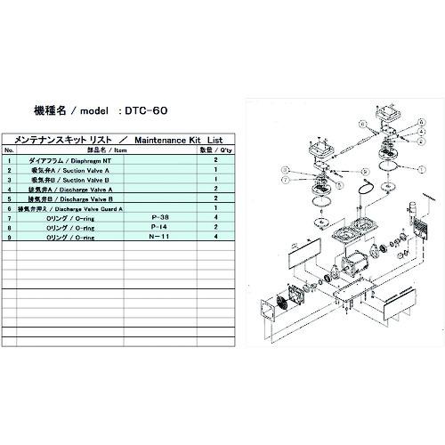 ULVAC(アルバック機工) DTC-60用メンテナンスキット DTC-60 MAINTENANCEKIT