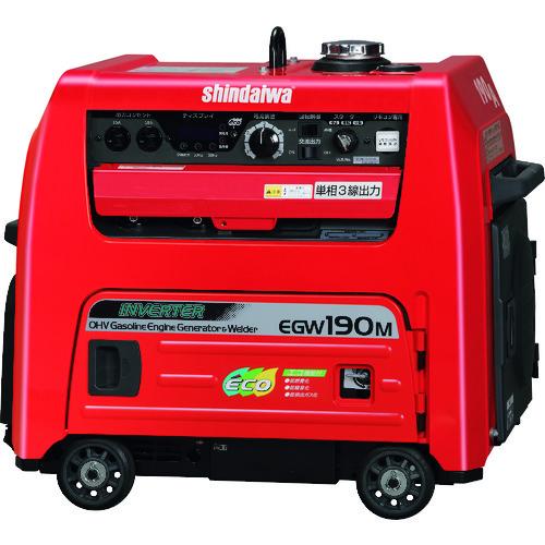 【直送】【代引不可】新ダイワ ガソリンエンジン発電機兼用溶接機 EGW190M-IST