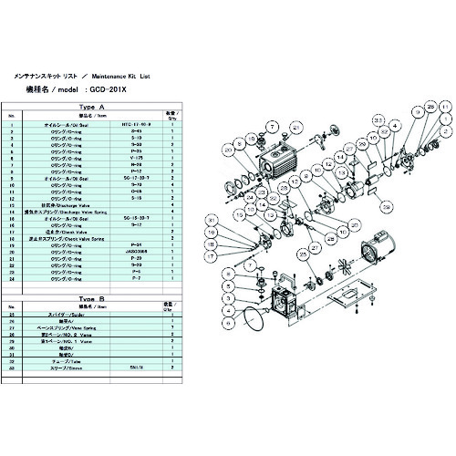 ULVAC(アルバック機工) GCD-201X用メンテナンスキットA GCD-201X MAINTENANCEKIT A