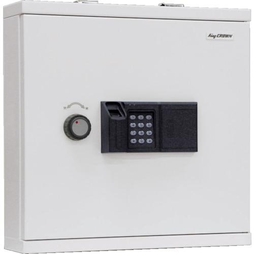 【直送】【代引不可】キング工業 指紋認証キーボックス 履歴機能付き KB-FPE-40N