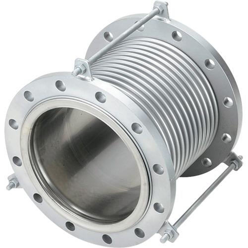 NFK(南国フレキ工業) 排気ライン用伸縮管継手 フランジ5K/SS400(接液部SUS) 150A×150L NK-7300/5K-SS400-150A-150L