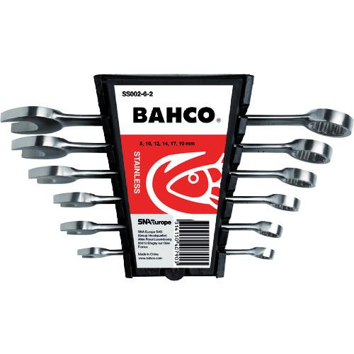 BAHCO(バーコ) ステンレス製コンビネーションレンチ6本セット ミリサイズ SS002-6-2