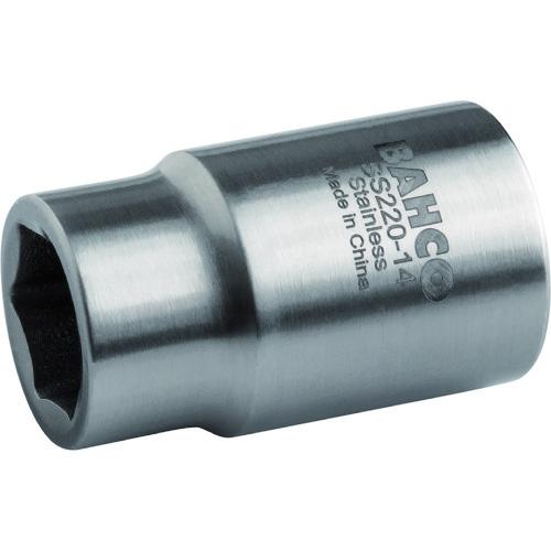 BAHCO(バーコ) ステンレス製6角ソケット 差込角1/2インチ、サイズ32mm SS220-32
