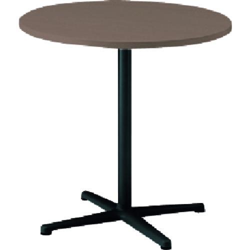 【直送】【代引不可】イトーキ ノットワークカフェテーブル円型 天板ノルディックバーチ・脚サテンブラック TLL-06C7J-TN