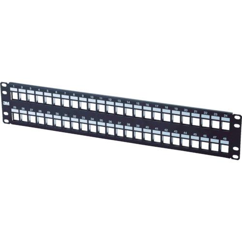 コーニング モジュラーパッチパネル 2Uサイズ 48ポート VOL-PPUD-F48K-JPN