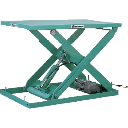 【直送】【代引不可】ビシャモン テーブルリフト 2TON 均等荷重2000kg ストローク1250mm X-21020-B