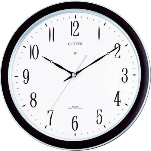 シチズン 電波掛時計 ネムリーナM691F プラスチック枠シルバーメタリック 4MY691-N19