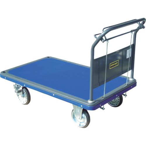 【直送】【代引不可】アイケーキャリー プレス製運搬車 固定ハンドル ブレーキ付 500kg 502HB-4