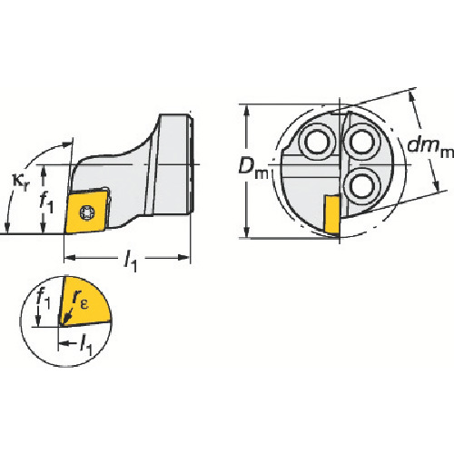 サンドビック コロターンSL コロターン111用カッティングヘッド 570-SCLPR-16-06