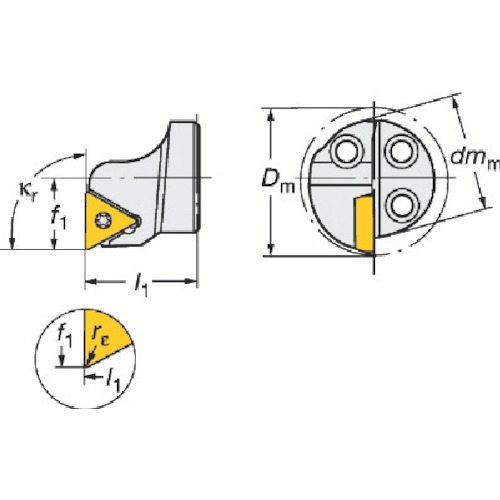 サンドビック コロターンSL コロターン111用カッティングヘッド 570-STFPR-20-11