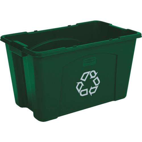 【直送】【代引不可】ラバーメイド リサイクルボックス グリーン 57187306