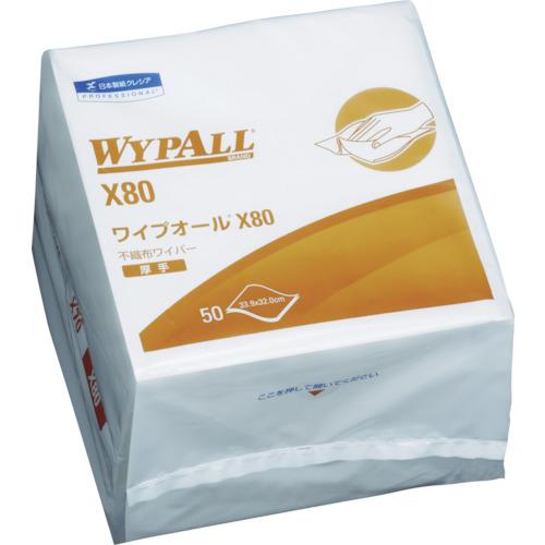 日本製紙クレシア ワイプオールX80 4つ折 50枚X12パック 60580