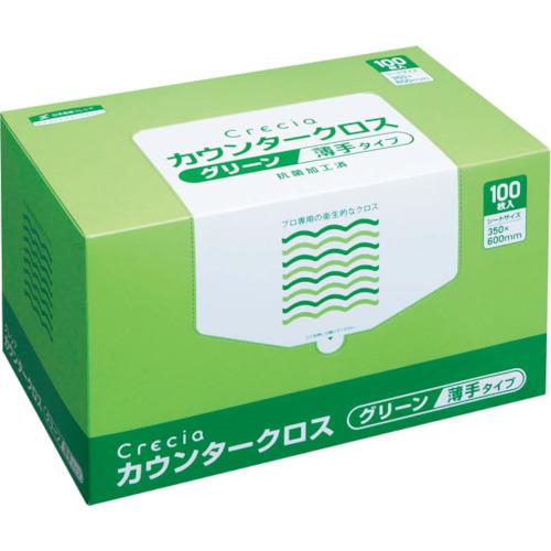 日本製紙クレシア カウンタークロス 薄手タイプ グリーン 65412
