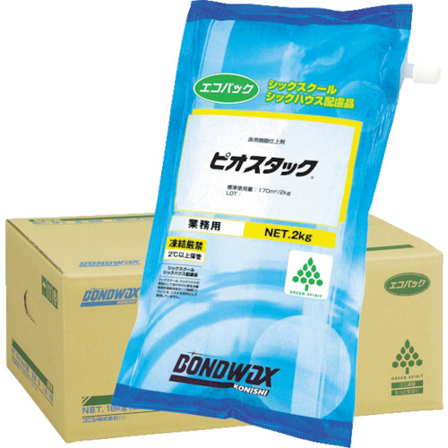 コニシ 帯電防止樹脂ワックス ピオスタックエコパック 18kg 2kgX9袋入 05127