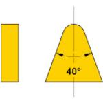 三菱マテリアル ろう付け工具 バイト用チップ 06形(36・39・40形用) 超硬 10個 06-4 HTI10