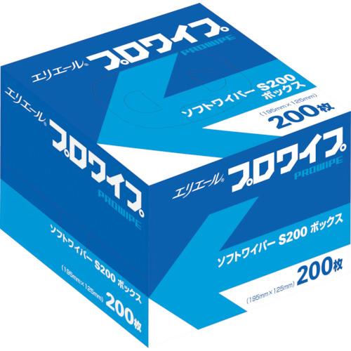 【直送】【代引不可】エリエール ソフトワイパーS200BOX72個入り 703128