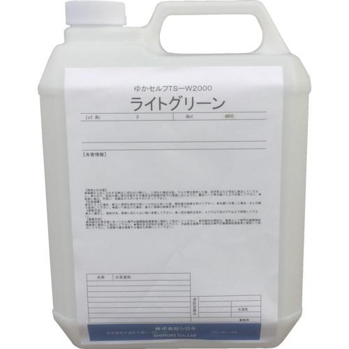 シロキ ミラクール 塗床塗料 ゆかセルフ TS-W2000 ライトグリーン 4.0Kg 7760313