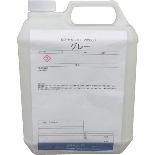 シロキ ミラクール 塗床塗料 ゆかセルフ TS-W2000 グレー 4.0Kg 7760315
