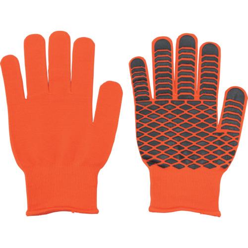福徳産業 すべり止め手袋 天然ゴムの吸ちゃん オレンジ フリー 791-ORG