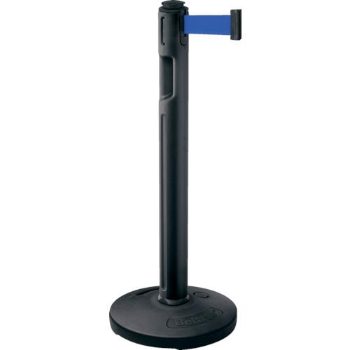 LAMP(スガツネ工業) 290-036295 屋外用ベルトパーテーション ゴム 支柱黒 青 80-5000R-BK-BL