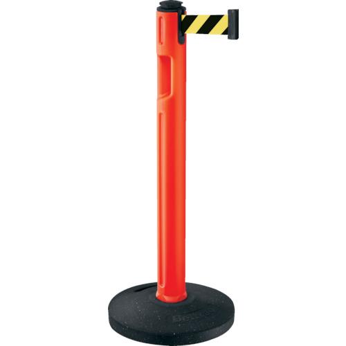 【直送】【代引不可】LAMP(スガツネ工業) 290-036301 屋外用ベルトパーテーション ゴム 柱橙 黄黒 80-5000R-OR-SF
