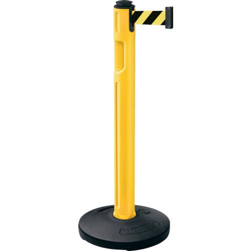 LAMP(スガツネ工業) 290-036299 屋外用ベルトパーテーション ゴム 柱黄 黄黒 80-5000R-YL-SF