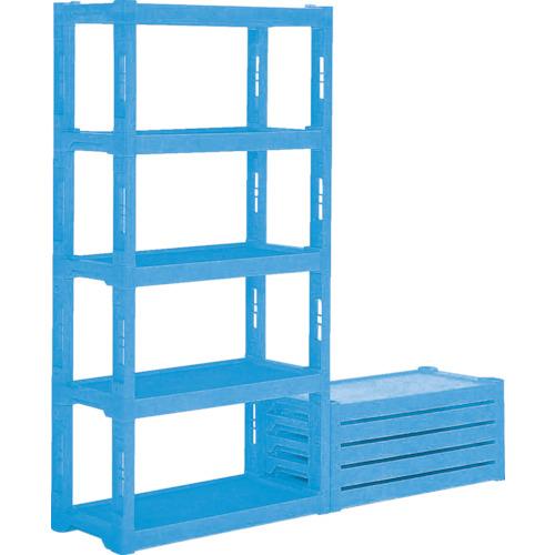 サンコー(三甲) プラスチック棚 900X450X1820 青 805270-BL