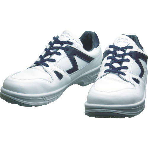 シモン(Simon) 安全靴 短靴 8611白/ブルー 25.5cm 8611WB-25.5