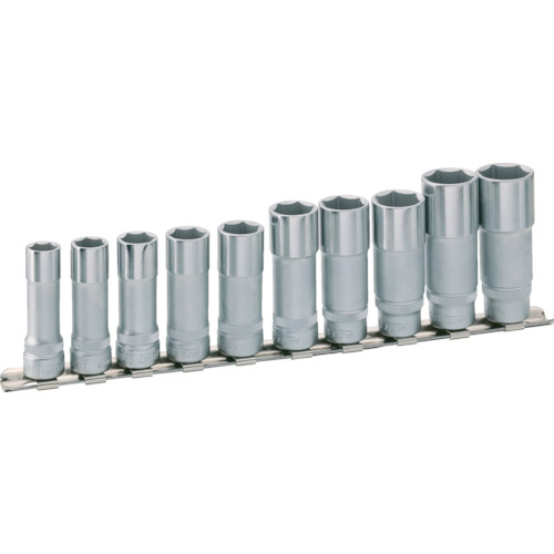 HAZET ディープソケットセット 差込角9.5mm 6角タイプ・レール付 10点組 880LG10H