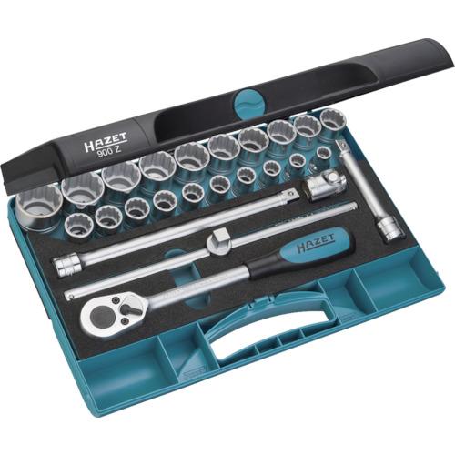 HAZET ソケットレンチセット(12角タイプ・差込角12.7mm) 25点組 900Z