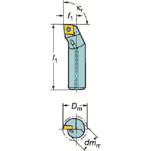 サンドビック コロターン111 ポジチップ用ボーリングバイト A10K-SCLPR 06