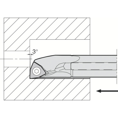 京セラ 内径加工用ホルダ A12M-SWUPR11-14AE