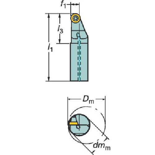 サンドビック コロターン107 ポジチップ用ボーリングバイト A20MSRXDL08R