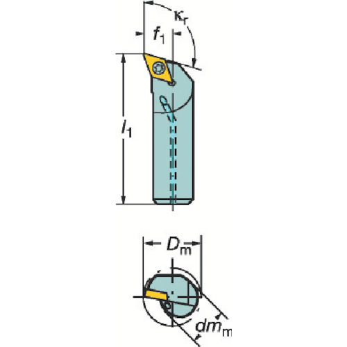 サンドビック コロターン107 ポジチップ用ボーリングバイト A20S-SDQCR 11