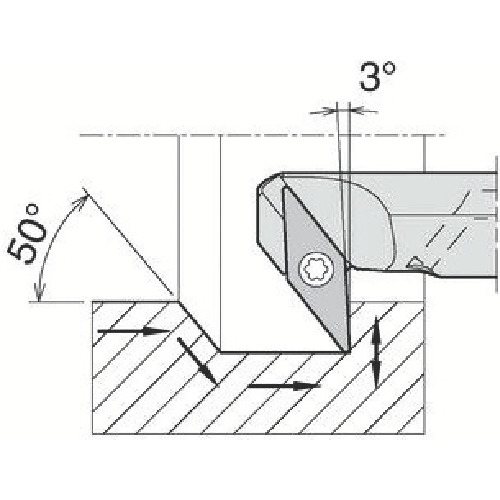 京セラ 内径加工用ホルダ A25S-SVZBR16-34AE