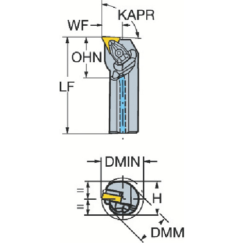 サンドビック コロターンRC ネガチップ用ボーリングバイト A40T-DTFNR 16