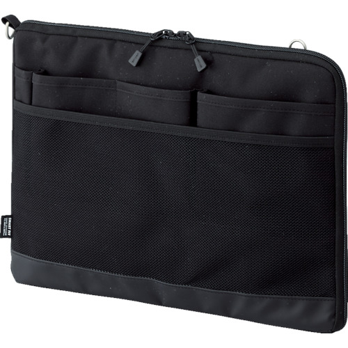 LIHIT(リヒト) A4バッグインバッグ(ヨコ型) ブラック 10個 A7681-24