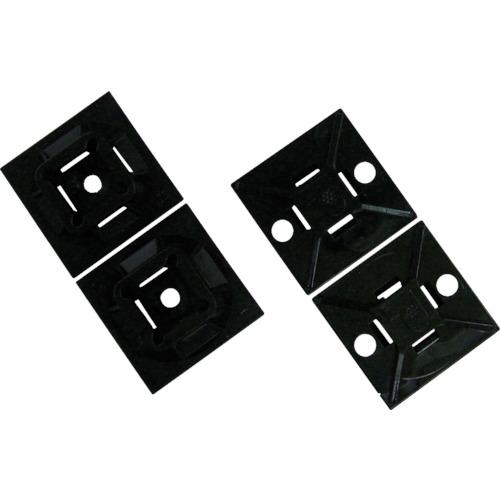 パンドウイット マウントベース 粘着テープ付 耐候性黒 2.3~4.8mm 500個入 ABM112-A-D20