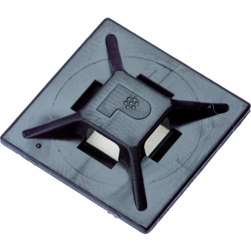 パンドウイット マウントベース 粘着テープ付 耐候性黒 2.3~3.6mm 500個入 ABMM-AT-D0