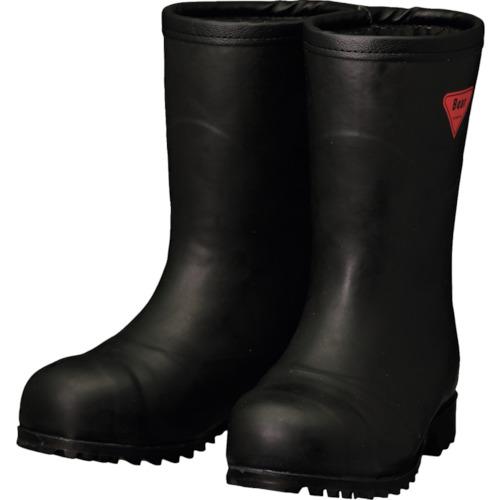 シバタ工業 防寒安全長靴 セーフティベアー#1011白熊 ブラック フード無し 24.0cm AC121-24.0