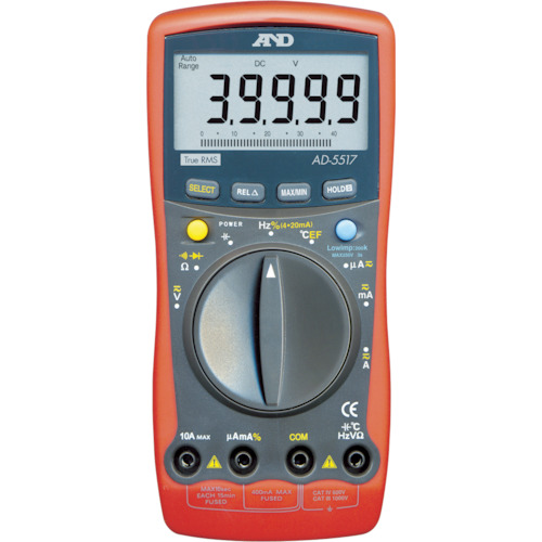 A&D(エー・アンド・ディ) デジタルマルチメーター高分解能、高機能形温度測定 AD5517