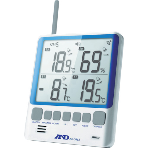 A&D(エー・アンド・デイ) マルチチャンネル温湿度計 AD5663
