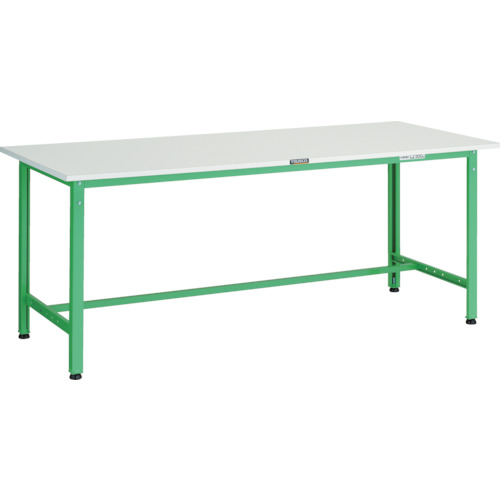 【直送】【代引不可】TRUSCO(トラスコ) AE型作業台 ポリ化粧天板 1800X750X740 若緑色 AE-1800 YG